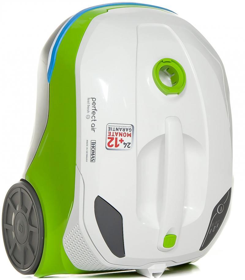 Пылесос Thomas Perfect Air Feel Fresh x3 без мешка сухая уборка 1700Вт бело-зеленый 786532 автомобильный пылесос rolsen rvc 100 без мешка сухая уборка 35вт бело голубой