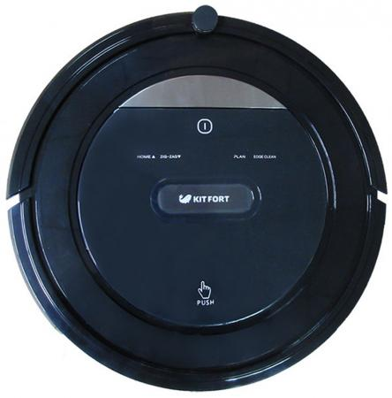 Робот-пылесос KITFORT КТ-516 25Вт черный ручной пылесос kitfort кт 527 90вт серый красный