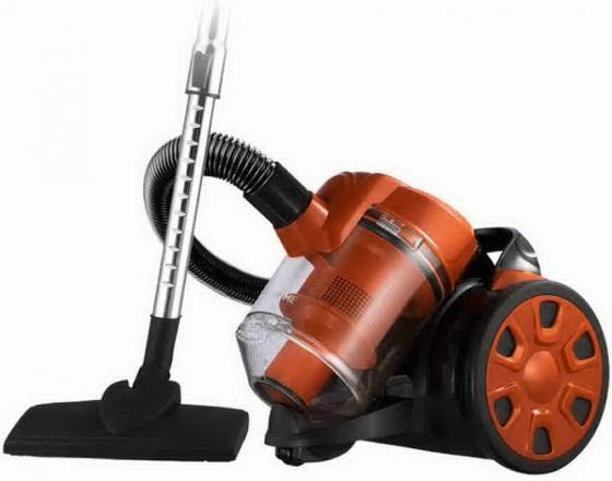 Пылесос HOME ELEMENT HE-VC-1802 сухая уборка чёрный оранжевый