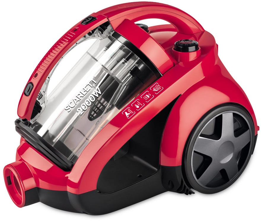 Пылесос Scarlett SC - VC80C85 (красный) масляный радиатор scarlett sc oh67b03 9 black