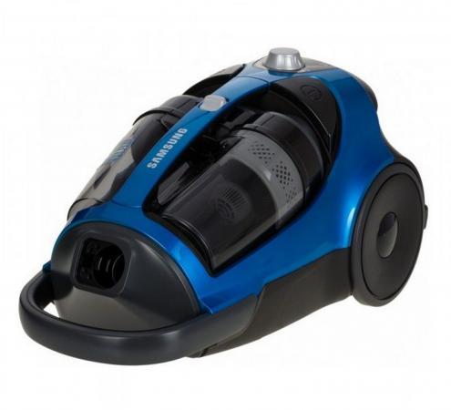 Пылесос Samsung SC8836 синий, мощность 2200/430, без мешка [VCC8836V3B/XEV]