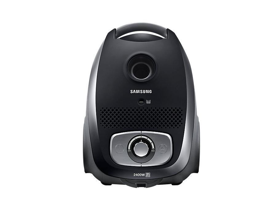Пылесос Samsung VC24LVNJGBB черный, 2400/440 Вт, с мешком [VC24LVNJGBB/EV] пылесос с контейнером samsung vc21k5136vb ev