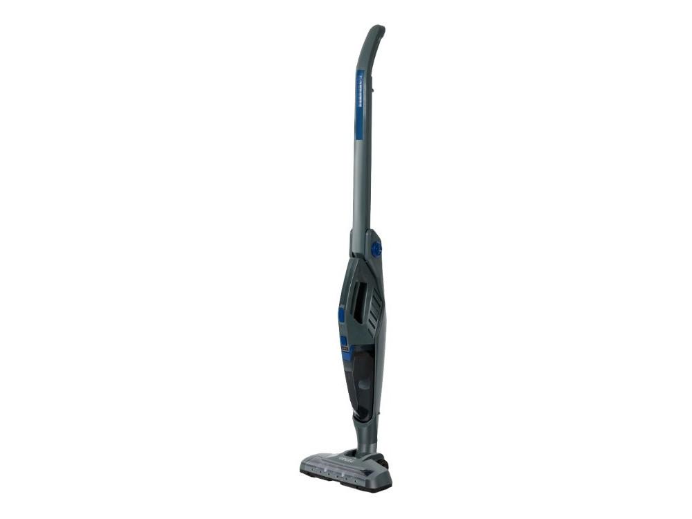Пылесос вертикальный Ginzzu VS415, 2 в 1, без мешка, серый/синий пылесос ginzzu vs429 1600вт серый синий