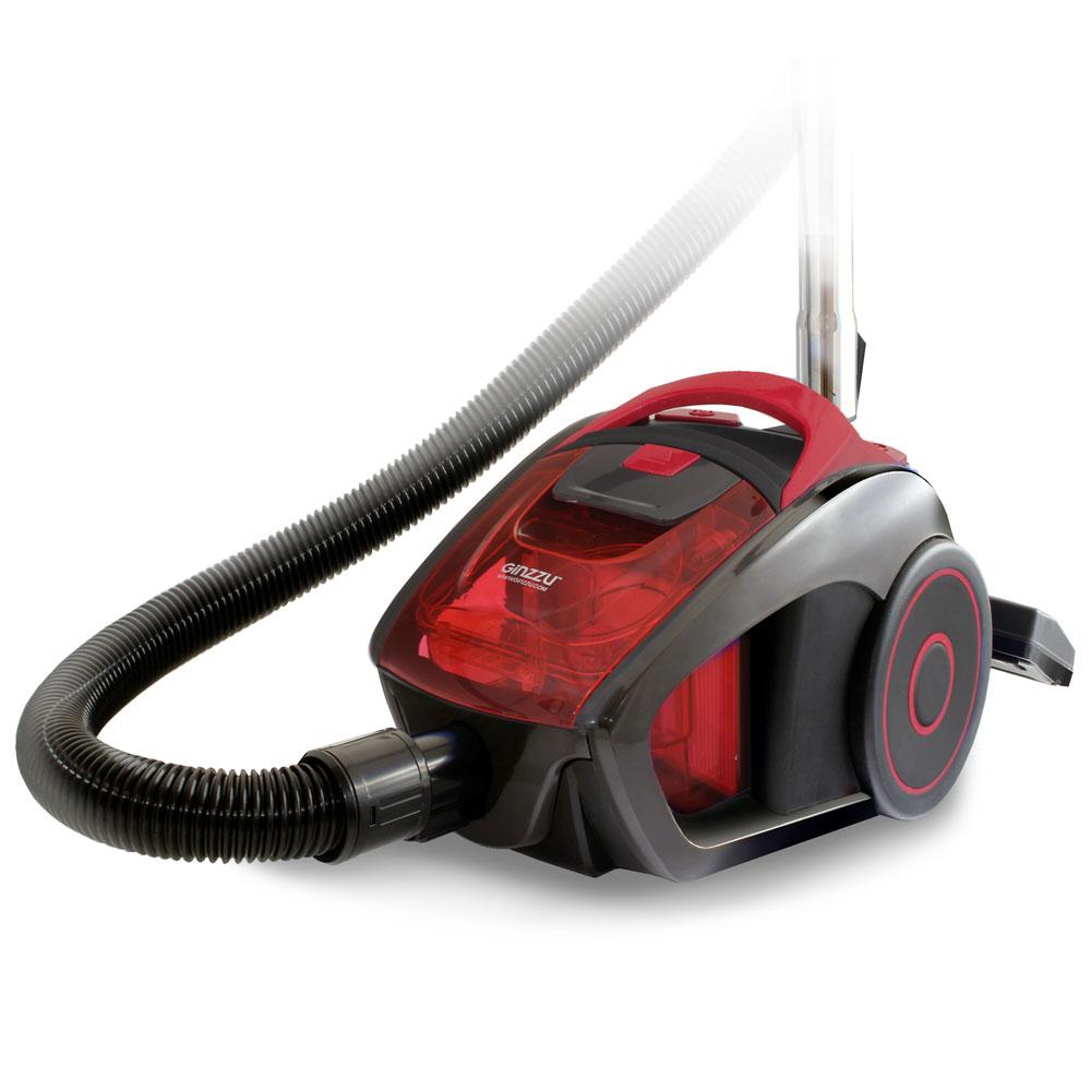 Пылесос Ginzzu VS429, 1600/290Вт, без мешка, серый/красный пылесос ginzzu vs429 1600вт серый синий