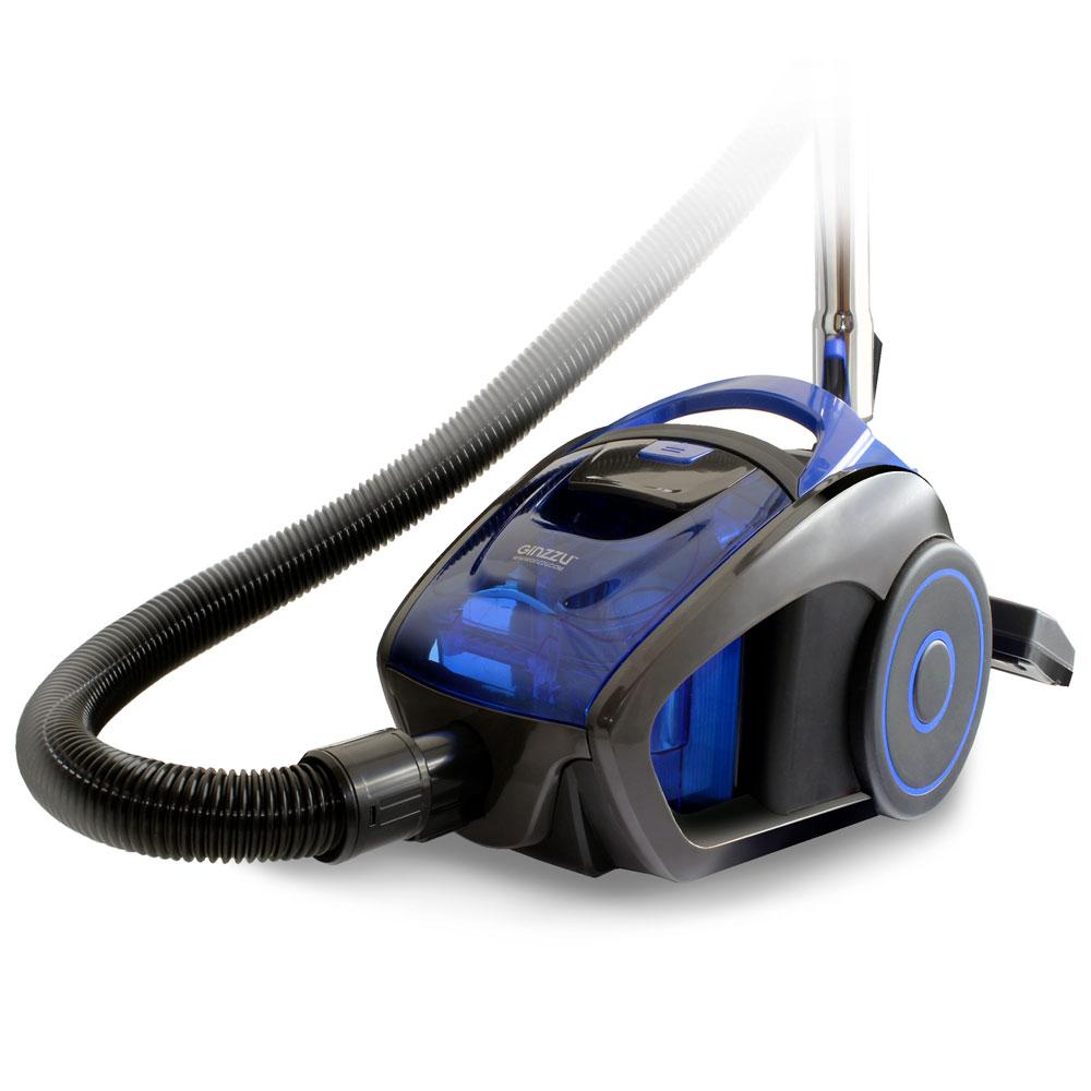 Пылесос Ginzzu VS429, 1600/290Вт, без мешка, серый/синий пылесос ginzzu vs429 1600вт серый синий