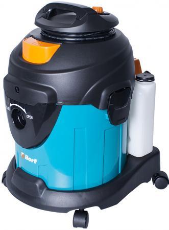 Промышленный пылесос BORT BSS-1415-W влажная сухая уборка чёрный синий промышленный пылесос dewalt dwv 901 l сухая уборка чёрный жёлтый
