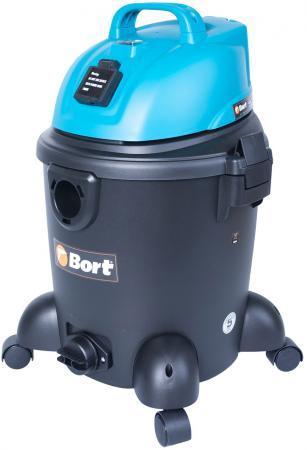 Промышленный пылесос BORT BSS-1220 сухая влажная уборка синий чёрный bort bss 1230 98291070 пылесос промышленный silver black