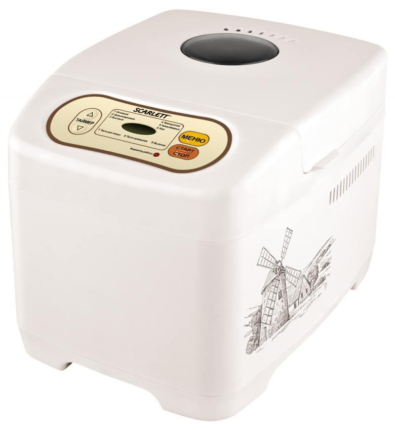 Хлебопечь Scarlett SC-BM40002 9 программ 530Вт белый цена