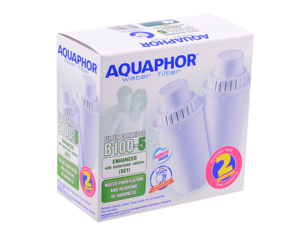 Модуль сменный фильтрующий АКВАФОР В100-5 (2шт) модуль сменный фильтрующий аквафор в100 15 стандарт