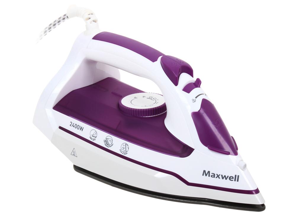 Утюг Maxwell MW-3035 (VT) (2000-2400 Вт, подошва с антипригарным покрытием, функция разбрызгивания) утюг maxwell mw 3041 vt