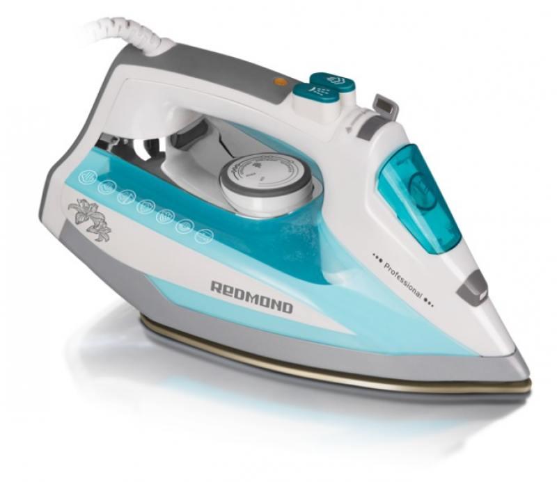 Утюг Redmond RI-D235 2200Вт белый/голубой утюг redmond ri c252 2200вт мятный ri c252 мятный