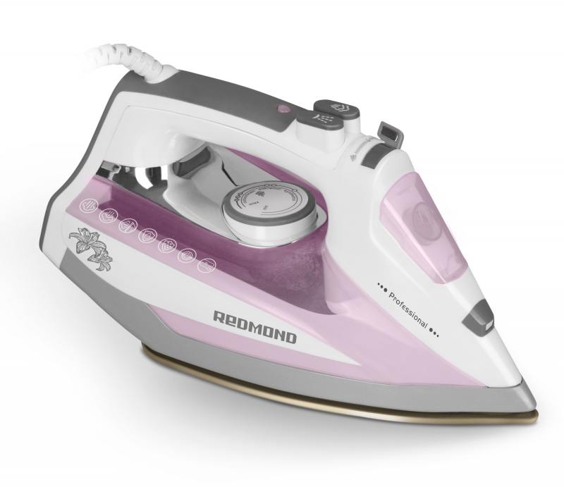 Утюг Redmond RI-D235 2200Вт белый/розовый утюг redmond ri s220