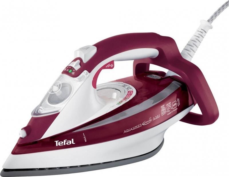 Утюг Tefal FV5535 2600Вт бордовый [FV5535E0] утюг tefal fv5535e0 2600вт красный белый