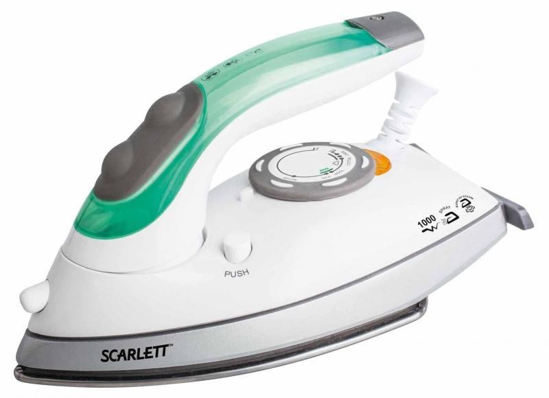 Утюг Scarlett SC-SI30T01 1000Вт бело-зеленый утюг smile si 1813 2000 вт бело сиреневый
