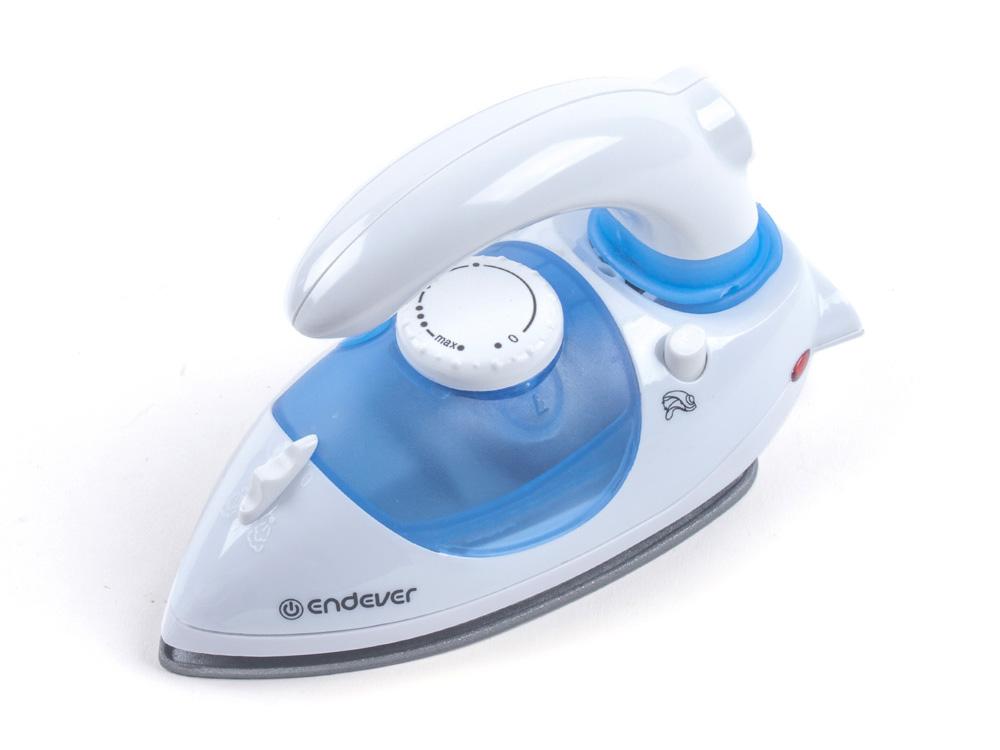 Утюг Endever Q-710 1000Вт белый синий утюг дорожный endever q 710