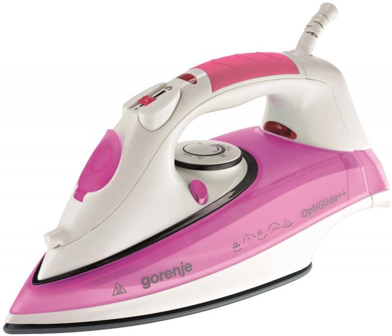 Утюг Gorenje SIH 2200PC 2200Вт розовый белый gorenje hbx485qw черно белый