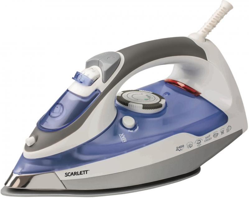 все цены на  Утюг Scarlett SC-1337S 2400Вт синий серый  онлайн