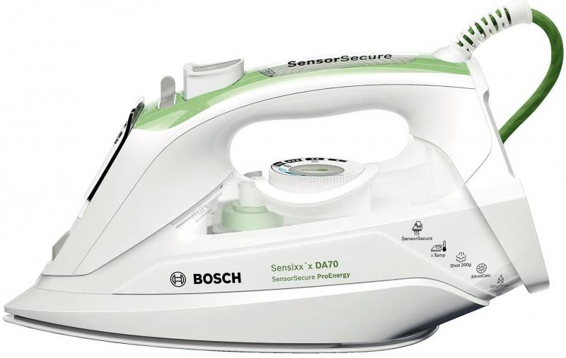 Утюг Bosch TDA 702421 E 2400Вт белый зелёный утюг bosch tda 702421 e sensixx x da 70 proenergy