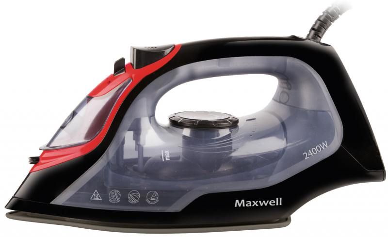 Утюг Maxwell MW-3034(BK) 2400Вт чёрный прозрачный