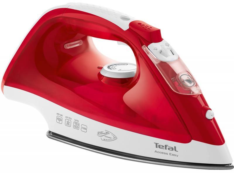 Утюг Tefal FV1543E0 2100Вт красный белый утюг tefal fv5535e0 2600вт красный белый