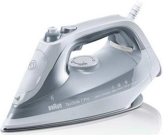 Утюг Braun SI7088GY TexStyle 7 2800Вт белый серый утюг braun ts765a texstyle 7