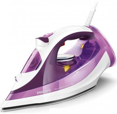Утюг Philips GC4519/30 2400Вт фиолетовый белый утюг philips gc 651 02 800вт дорожный белый