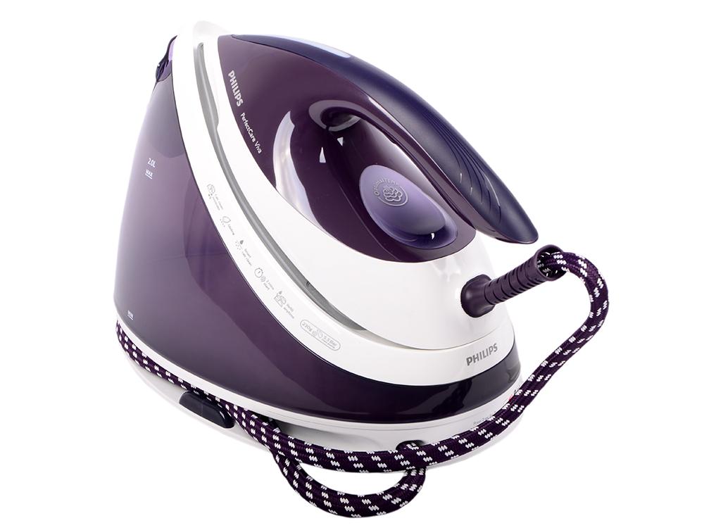 Парогенератор Philips GC7051/30 фиолетовый 2400Вт утюг philips gc2995 30 2400вт фиолетовый
