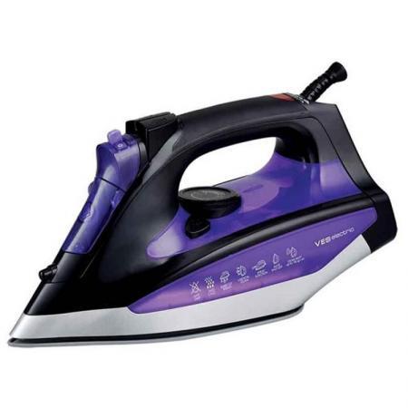 Утюг VES S-108 2400Вт черный фиолетовый пароочиститель ves electric v st03 1550вт фиолетовый чёрный