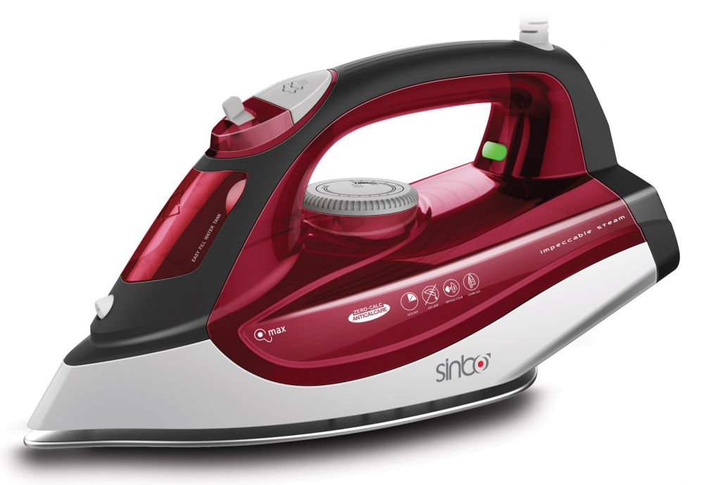 Утюг Sinbo SSI 6611 красный/белый 2200Вт, подошва тефлон, автооткл, утюг sinbo