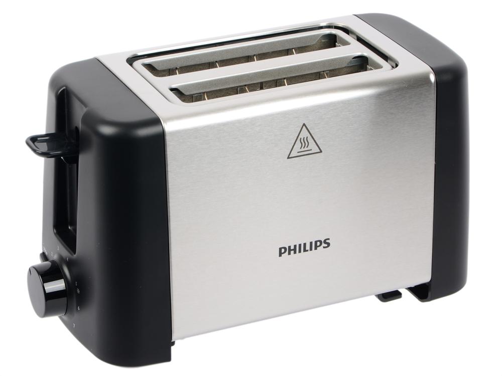 Тостер Philips HD4825/90 серебристый тостер philips hd4825 90 черный серебристый