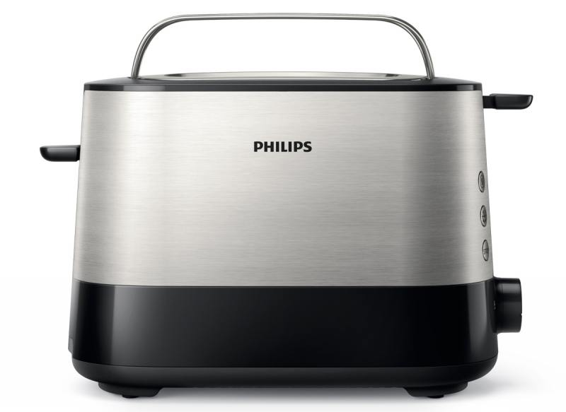 Тостер Philips HD2637/00 серебристый чёрный