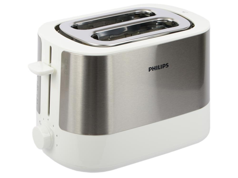 Тостер Philips HD2637/00 серебристый чёрный тостер philips hd4825 90 черный серебристый
