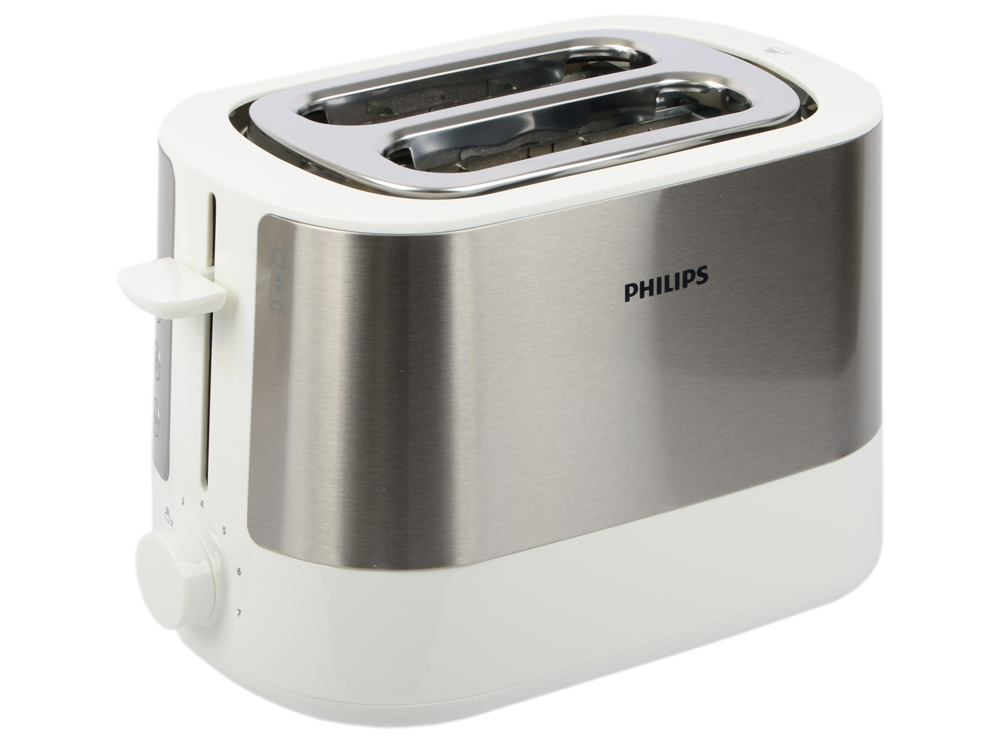 Тостер Philips HD2637/00 серебристый чёрный тостер philips hd2637 00 серебристый белый