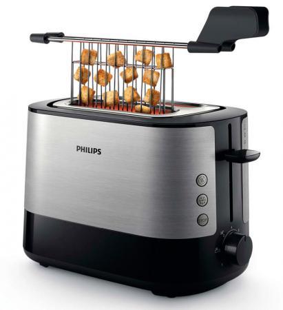 Тостер Philips HD2635/90 серебристый чёрный тостер philips hd2581 90 черный