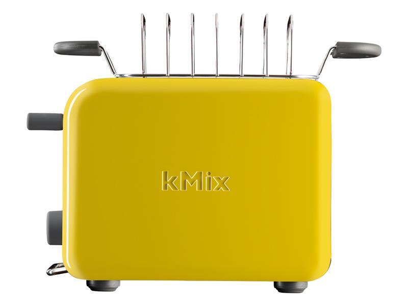 Тостер Kenwood TTM020 Y, 900Вт, на 2 тоста, разморозка, регул.температуры, решётка для подогрева сверху, ненагревающийся орпус, жёлтый тостер kenwood tcx 751 bk