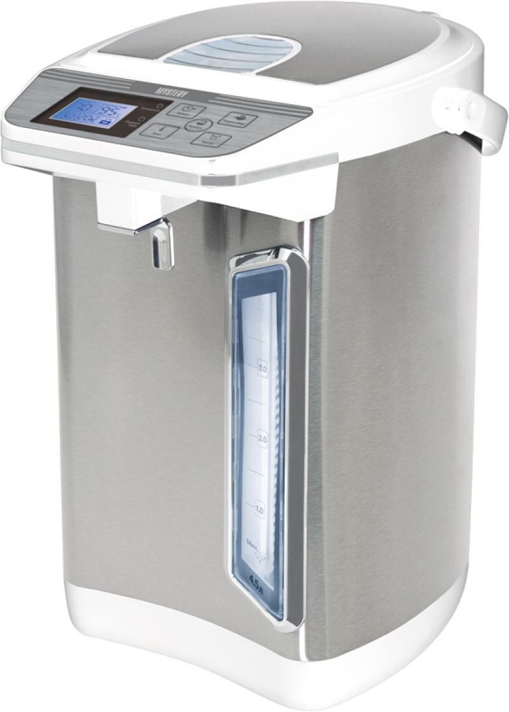Термопот MYSTERY MTP-2442 700 Вт 4.3 л металл/пластик серебристый белый
