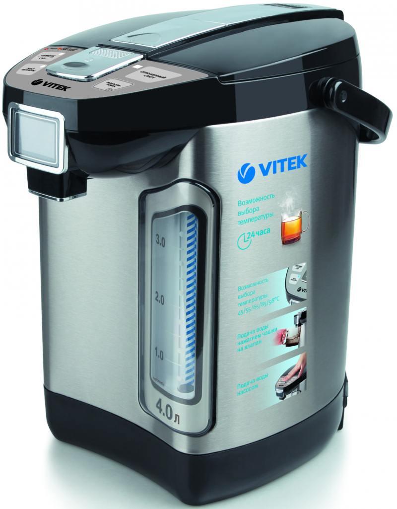 Термопот Vitek VT-1198ST 800 Вт 4 л нержавеющая сталь серебристый