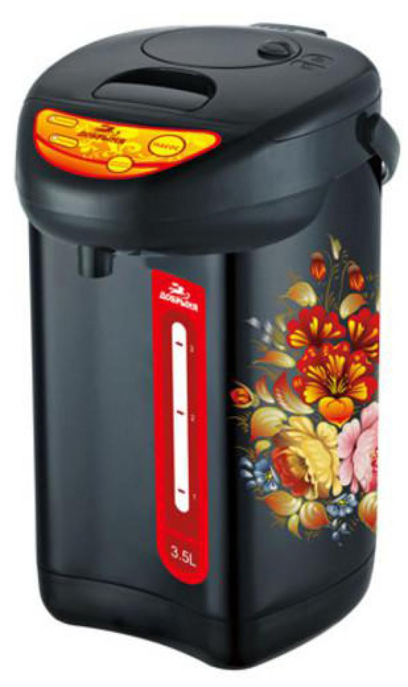Термопот Добрыня DO-487 800 Вт чёрный рисунок 3.5 л металл