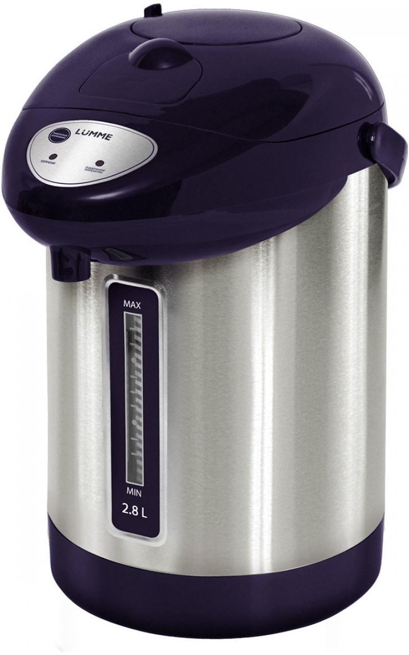 Термопот Lumme LU-297 900 Вт темный топаз 2.8 л нержавеющая сталь