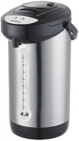Термопот Supra TPS-3012 800 Вт серебристый чёрный 4 л металл/пластик термопот supra tps 3016 730 вт серебристый 4 2 л металл