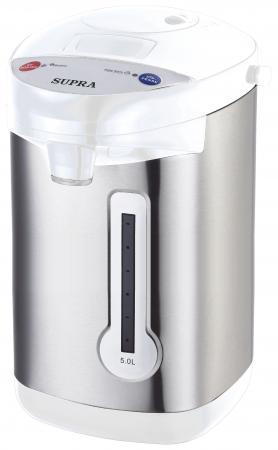 Термопот Supra TPS-3013 900 Вт серебристый белый 5 л нержавеющая сталь термопот supra tps 3013 900 вт серебристый белый 5 л нержавеющая сталь