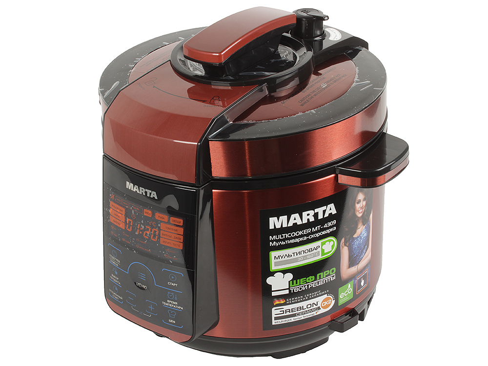 Мультиварка MARTA MT-4309 черный/красный мультиварка marta mt 1971