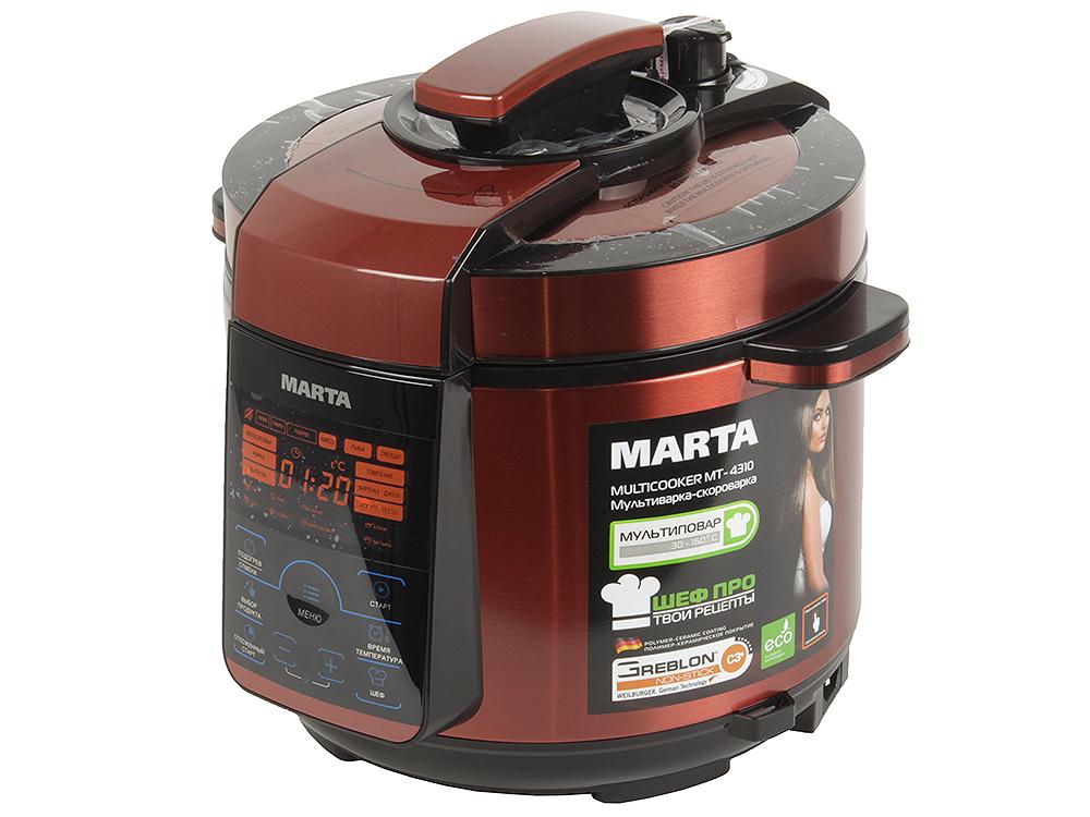 Мультиварка MARTA MT-4310 черный/красный мультиварка marta mt 1971