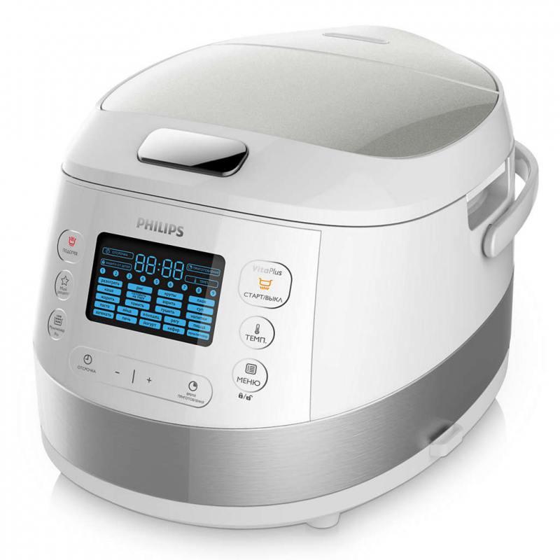 Мультиварка Philips HD4734/03 серебристый 980 Вт 5 л мультиварка polaris pmc 0559d кофе 860 вт 5 л
