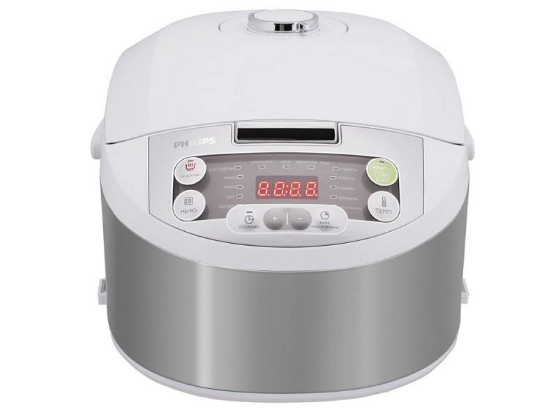 Мультиварка Philips HD3136/03 белый 980Вт 4л пластик мультиварка philips hd3095 03 860вт 4л серебристый