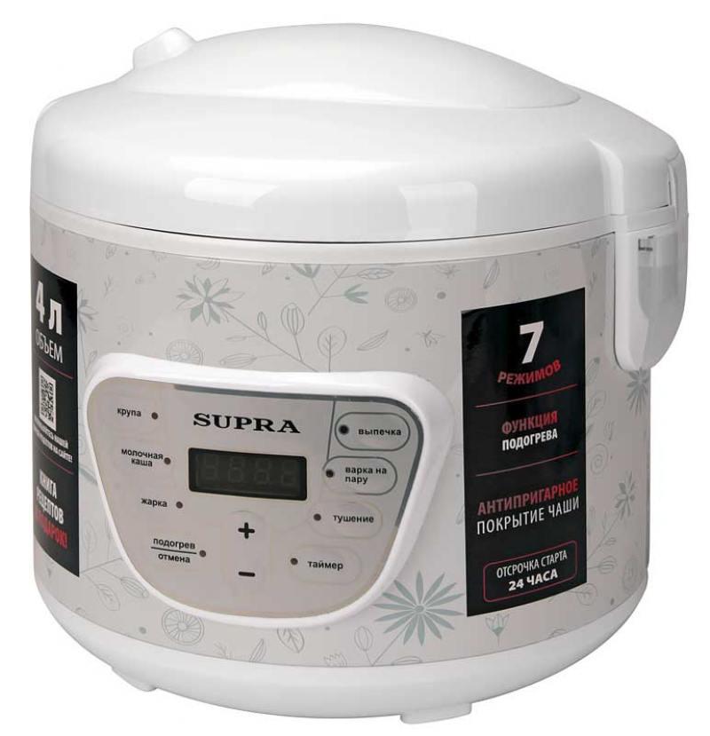 Мультиварка Supra MCS-4704 800Вт белый