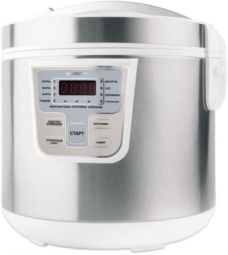 Мультиварка Scarlett SC-MC410S18 860 Вт 5 л серебристый белый