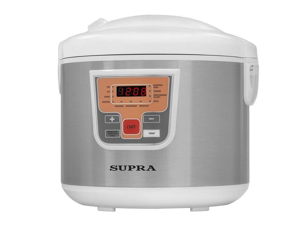 Мультиварка Supra MCS-5110 серебристый, 5 л, 900 Вт мультиварка supra mcs 5201