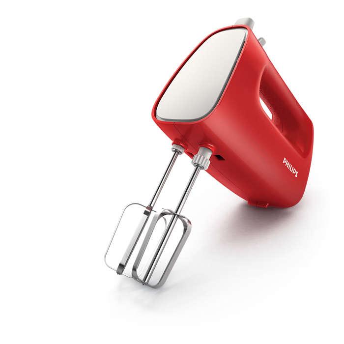 Миксер ручной Philips HR1552/12 красный/белый 250 Вт