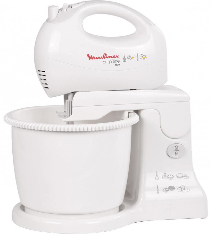 Миксер ручной Moulinex HM412131 450Вт белый/серый миксер moulinex powermix hm613130